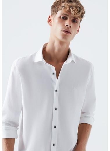 Mavi Erkek   Gömlek 021649-620 Beyaz